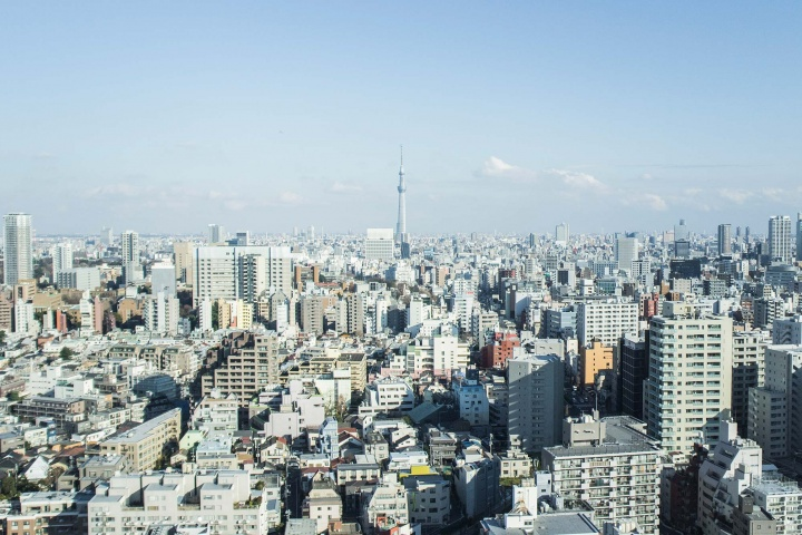 View over Tokyo.