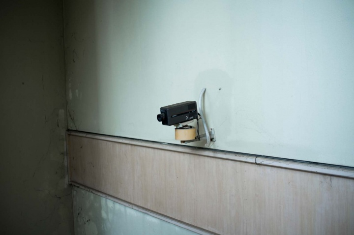Retro security camera.