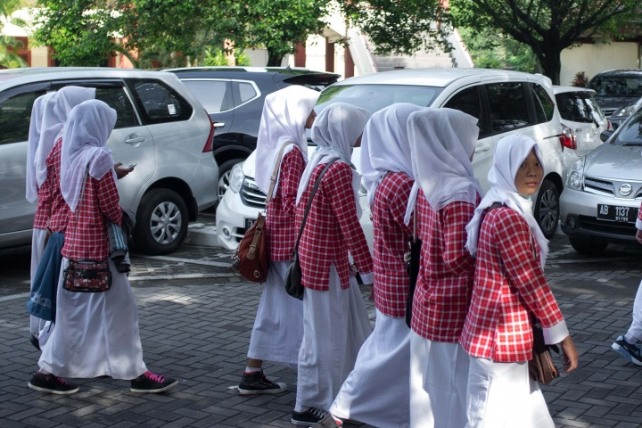 Generally, all students in Indonesia are expected to wear school uniform. Read more about education in Indonesia.