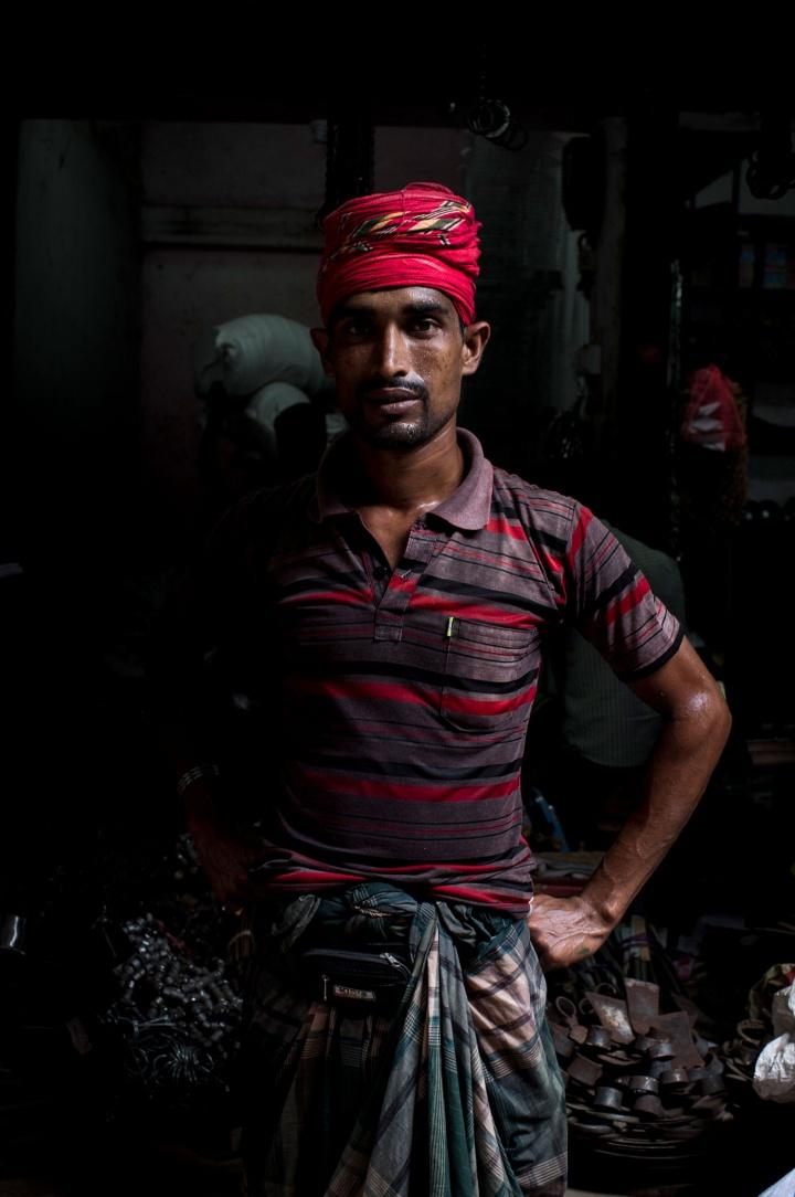 Labourer in Khulna, Bangladesh.