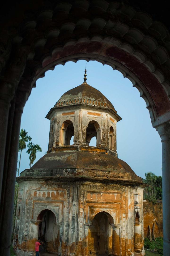 Muslim temple in Puthia, Bangladesh.