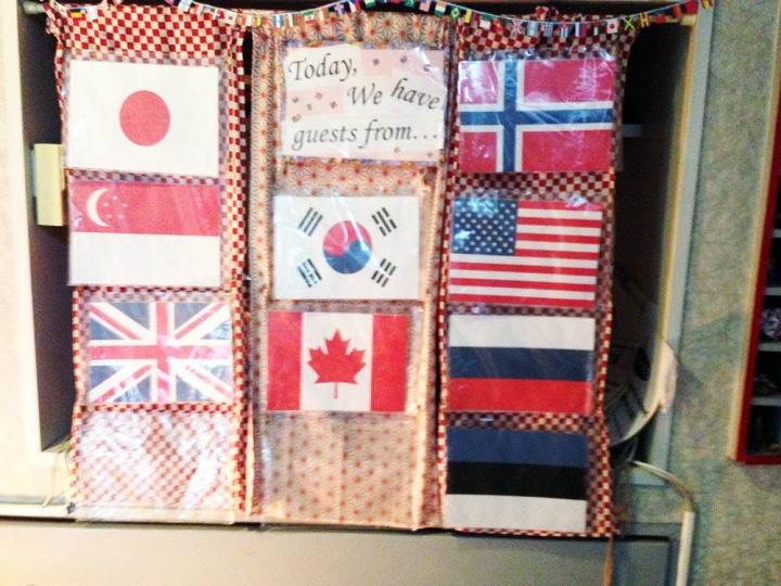 Флаги двух моих национальностей.